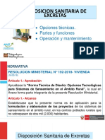 Present. Disposicion Sanit. de Excretas (Mcc) 2019