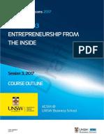 MNGT5203 Entrepreneurship From the Inside S32017