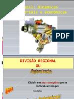 Regionalização do Território brasileiro