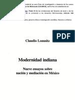 Modernidad indiana. Introducción. Lomnitz