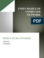 Unit-1 Basics of Computer Network