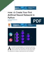 Crear red neural en Python