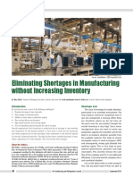 Eliminating Shortages in Manufacturing with TOC