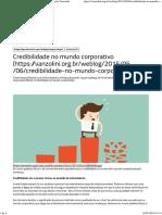 Credibilidade No Mundo Corporativo - Blog Fundação Vanzolini