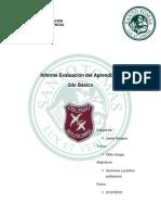 Informe de Evaluacion de Aprendizajes