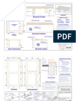 Módulo básico de adobe reforzado con geomalla – Planos