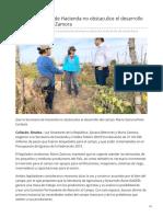 24/Julio/2019 Que la Secretaría de Hacienda no obstaculice el desarrollo del campo Mario Zamora,