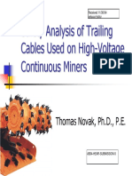 Safety Analysis of Trailing Cables