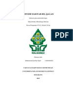 Metode Dakwah Bil Qolam (Najib)