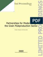 Partnerships for Modernizing the Grain Postproduction Sector