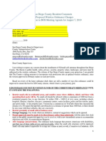 SD County BOS Letter 5G Wireless Ordinance Aug 7 2019