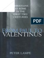 Peter Lampe - From Paul to Valentinus_ Christians at Rome in the First Two Centuries-Augsburg Fortress Publishers (2003)