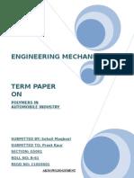 Term Paper b61 Mechanics