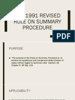 The 1991 Revised Rule on Summary Procedure