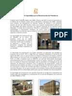Desarrollo de Capacidades para la Reconstrucción de Viviendas en Chincha