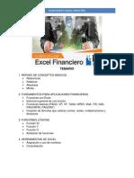 TEMARIO Excel Financiero