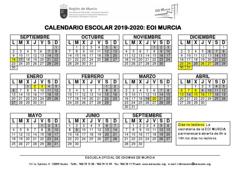 Calendario 2019 Murcia.Calendario 2019 2020 Murcia Violencia Disturbios