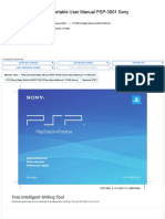 PSP3001D Play Station Portable User Manual