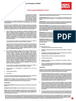 Plateglass _WidoutClauses General Insurance Policy wordings Hdfc ergo