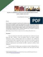 POLÍTICAS E REPRESENTAÇÕES SOCIAIS DE PROFESSORES DA ESCOLA BÁSICA SOBRE O BULLYING