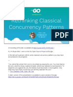 Rethinking Classical Concurrency Patterns