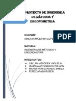 Ingenieria de Métodos Proyecto