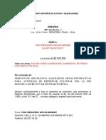 Documento Soporte de Costos y Deducciones