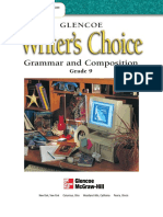 Writer's Choice Grade 9 Student Edition Grammar and Composition