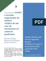 Escolas de Samba e Torcidas Organizadas de Futebol