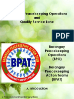 Barangay Peacekeeping Operations 2019