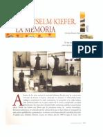 Anselm Kiefer La Memoria