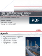 CSG Facility Pipe Support Options_ Piping Stress Analysis Approach - Dan Peschong
