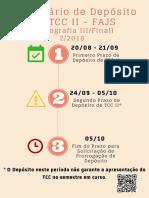 Calendario de Deposito de TCC 2018 2