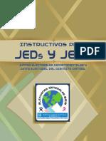 Instructivo Juntas Electorales Departamentales y Junta Electoral del Distrito Central 2,019, TSE Guatemala