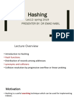 Hashing part 1 Lecture