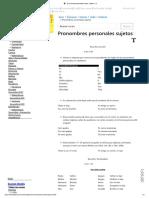 Pronombres Personales Sujetos - Inglés A1 】