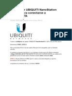 Configurar UBIQUITI NanoStation M2
