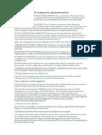 Características de La Función Administrativa