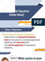 Lesson Exponential Equation