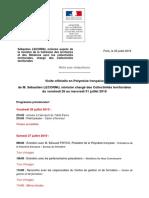 Note aux rédactions - Programme visite officielle en PF de M. Sébastien LECORNU