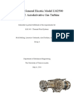 Analysis of General Electric Model LM2500