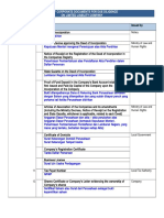 List of LDD Corporate Documents for PT
