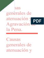 Causas Atenuantes y Agravantes de La Pena