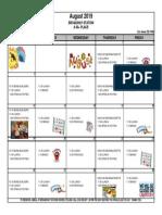 2019 August Activities Calendar - Broadway Station