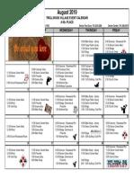 8 - 2019 August Activities Calendar - Trollwood