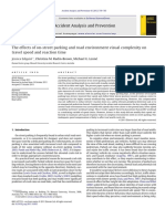 The Effects of on-street Parking and Road Environment Visual Complexity on Travel Speed and Reaction Time