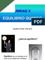 10- UNIDAD X. Equilibrio Químico