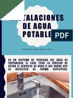 INSTALACIONES DE AGUA POTABLE