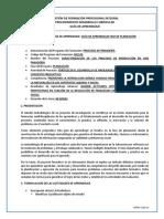 PROCESOS DE PANADERÍA GUÍA PLANEACIÓN