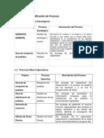identificacion de procesos PETI